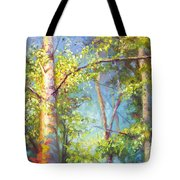 Welcome Home - Birch And Aspen Trees Tote Bag