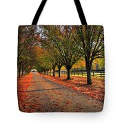Welcome Home Bradford Pear Lined Drive-way Tote Bag