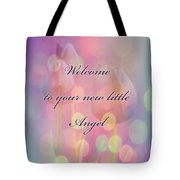 Welcome New Baby Greeting Card - Tulips Tote Bag