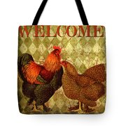 Welcome Rooster-61412 Tote Bag