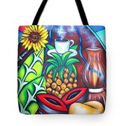 Welcome To Here And Now Tote Bag