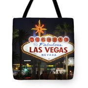 Welcome To Las Vegas Tote Bag by Mike McGlothlen