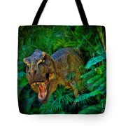 Welcome To My Park Tyrannosaurus Rex Tote Bag