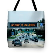 Welcome To New Jersey Tote Bag