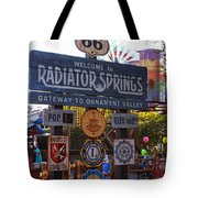 Welcome To Radiator Springs Tote Bag
