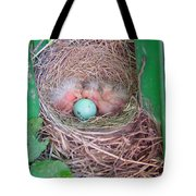Welcome To The World - Hatching Baby Robin Tote Bag