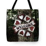 Welcome With Love Tote Bag