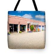 Welcoming Courtyard Tote Bag