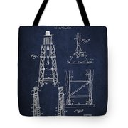 Well Drilling Apparatus Patent From 1960 - Navy Blue Tote Bag