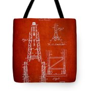 Well Drilling Apparatus Patent From 1960 - Red Tote Bag