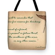 Well To Remember Tote Bag