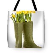 Wellington Boots Tote Bag by Amanda Elwell