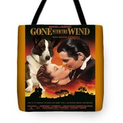 Welsh Corgi Cardigan Art Canvas Print - Gone With The Wind Movie Poster Tote Bag