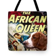Welsh Springer Spaniel Art Canvas Print - The African Queen Movie Poster Tote Bag