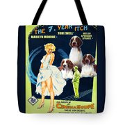 Welsh Springer Spaniel Art Canvas Print - The Seven Year Itch Movie Poster Tote Bag