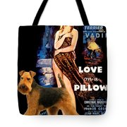 Welsh Terrier Art Canvas Print - Love On A Pillow Movie Poster Tote Bag