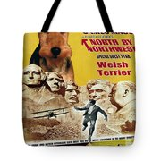 Welsh Terrier Art Canvas Print - North By Northwest Movie Poster Tote Bag
