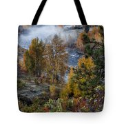 Wenatchee River From Dryden Road Tote Bag