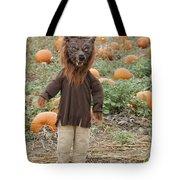 Werewolf In The Pumpkin Patch Tote Bag