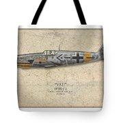 Werner Molders Messerschmitt Bf-109 - Map Background Tote Bag