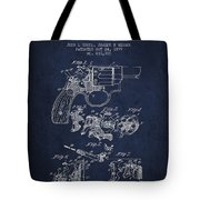 Wesson Hobbs Revolver Patent Drawing From 1899 - Blue Tote Bag