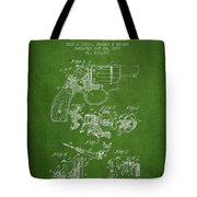 Wesson Hobbs Revolver Patent Drawing From 1899 - Green Tote Bag