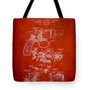 Wesson Hobbs Revolver Patent Drawing From 1899 - Red Tote Bag