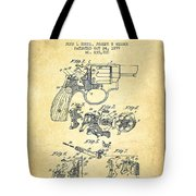 Wesson Hobbs Revolver Patent Drawing From 1899 - Vintage Tote Bag