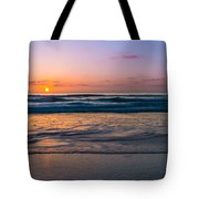 West Coast Sunset Cool Tones Tote Bag