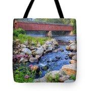 West Cornwall Covered Bridge Summer Tote Bag