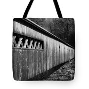 West Dummerston Covered Bridge Tote Bag by Luke Moore