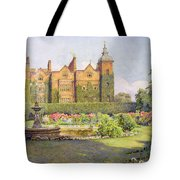 West Front And Gardens Of Hatfield Tote Bag