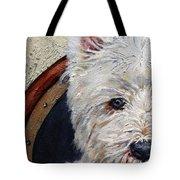 West Highland Terrier Dog Portrait Tote Bag