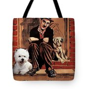 West Highland White Terrier Art Canvas Print - A Dogs Life Movie Poster Tote Bag