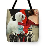 West Highland White Terrier Art Canvas Print - All About Eve Movie Poster Tote Bag