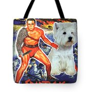 West Highland White Terrier Art Canvas Print - Spartacus Movie Poster Tote Bag