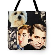West Highland White Terrier Art Canvas Print - Suspicion Movie Poster Tote Bag