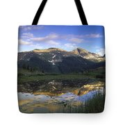 West Needle Mountains Reflected In  Pond Tote Bag