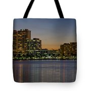 West Palm Beach At Twilight Tote Bag