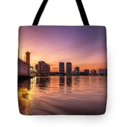 West Palm Beach Skyline At Dusk Tote Bag