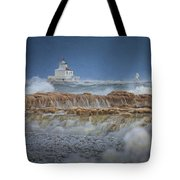 West Pierhead In Ice Tote Bag