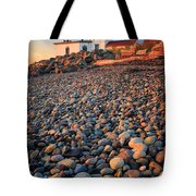 West Point Lighthouse Rocks Tote Bag