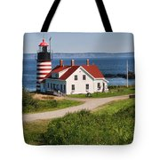 West Quaddy Lighthouse Tote Bag