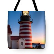 West Quoddy Head Light At Dawn I Tote Bag