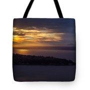 West Seattle Sunset Sunstar Tote Bag
