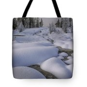 West Thumb Snow Pillows II Tote Bag