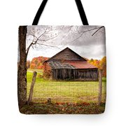 West Virginia Barn In Fall Tote Bag