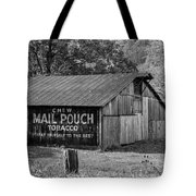 West Virginia Barn Monochrome Tote Bag