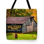 West Virginia Barn Oil Tote Bag