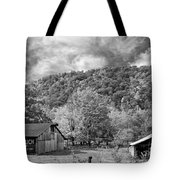 West Virginia Barns Monochrome Tote Bag